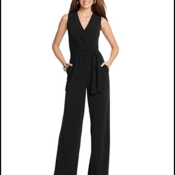 5d4ba67b873 NY Collection  Macy s  Petite Black Jumpsuit. M 5a68b6e83afbbdb6a2f027b7
